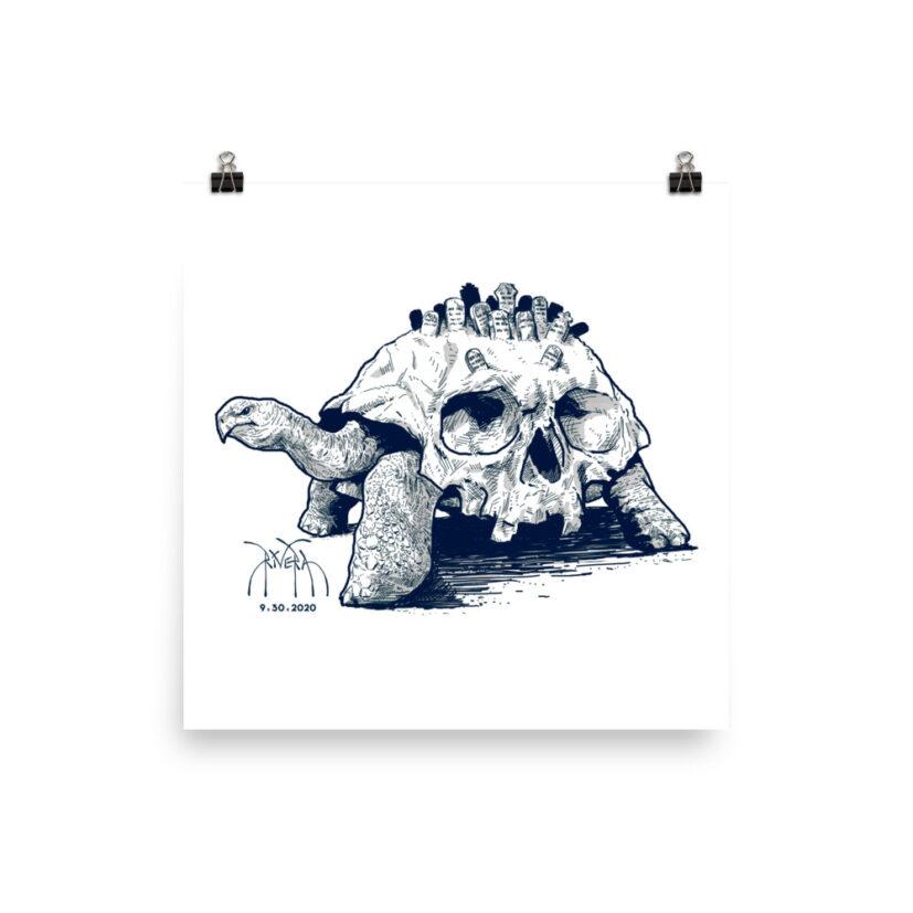 death-tortoise-slowly-comes-for-us-all-matte-art-print-by-david-rivera-riveramedia-10x10