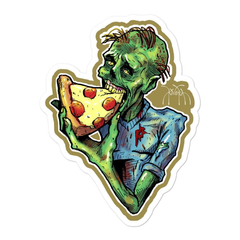 rivera-media-vinyl-art-sticker-by-david-rivera-riveramedia-zombizza-zombie-pizza