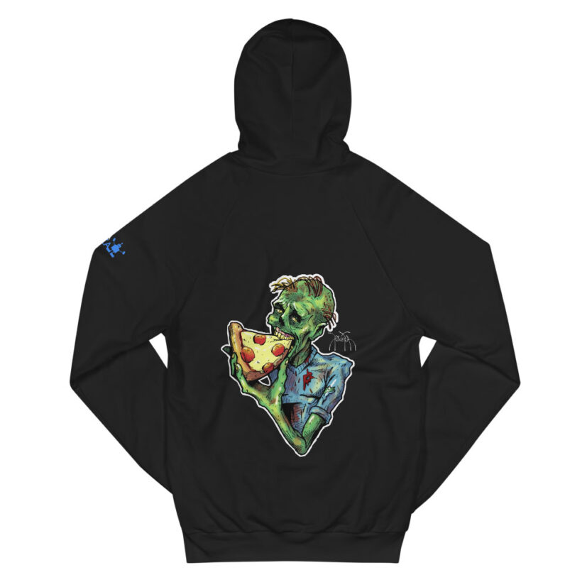 rivera_media_fine_art_high_quality_soft_limited_edition_custom_street_art_hoodie_featuring_art_by_david_rivera_riveramedia_zombizza_zombie_pizza