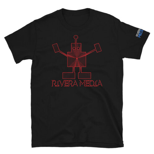 rivera_media_fine_art_high_quality_soft_limited_edition_custom_street_art_tshirt_featuring_art_by_david_rivera_riveramedia_robot_red_lines