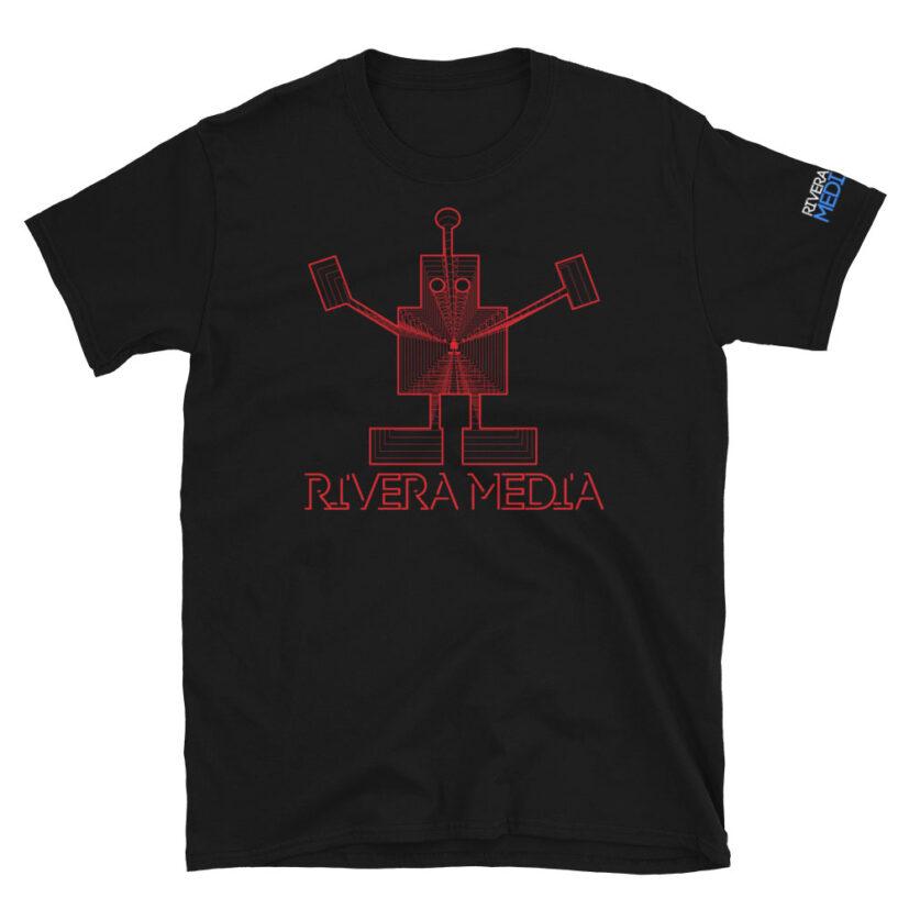 rivera_media_fine_art_high_quality_soft_limited_edition_custom_street_art_tshirt_featuring_art_by_david_rivera_riveramedia_robot_red_lines
