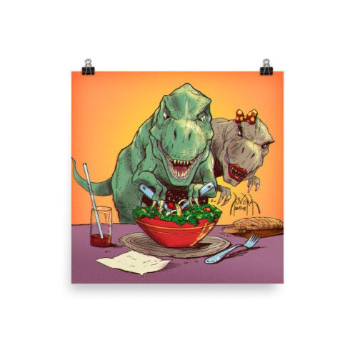 vegetarian-trex-veggiesaurus-matte-art-print-by-david-rivera-riveramedia-10x10